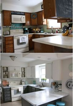 Fixer Upper Inspired Kitchen Redo Using Mostly Paint! Life KitchenHome Decor  ...