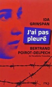 J'ai pas pleuré, Ida Grinspan ~ Le Bouquinovore