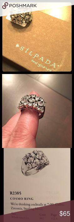 Silpada cosmo ring R2385 CZ & sterling silver Silpada Jewelry Rings