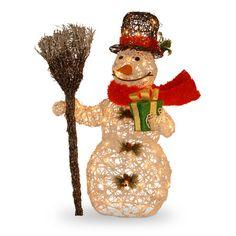 """Pre-Lit Snowman Christmas Decoration $125..35"""""""