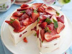 IJstaart met aardbeien
