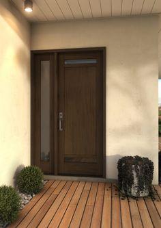 121 Windermere Shaker acajou simple Porte d& Sidelite Doors, Home Doors, Single Doors, House Inspiration, Contemporary Doors, Patio Doors, Single Entry Doors, Room Door Design, Modern Wood
