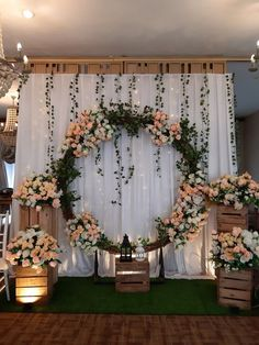 Engagement Day Aya & Tata – Kranggan – The Best Ideas Rustic Wedding Backdrops, Wedding Stage Decorations, Backdrop Decorations, Wedding Mandap, Wedding Receptions, Rustic Backdrop, Wedding Ideas, Diy Engagement Decorations, Wedding Table