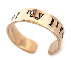 A ring fit for a khaleesi.hand stamped, 14 karat gold-filled ring inspired by Game of Thrones; by Foxwise Gold Filled Jewelry, Gold Jewelry, 14 Karat Gold, Hand Stamped, Cuff Bracelets, My Life, Handmade Jewelry, Band, Rings