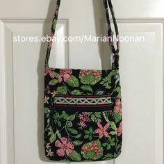 Vera Bradley Hipster CrossBody ShoulderBag Purse Handbag Retired Botanica Floral  | eBay