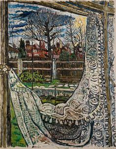 Christmas Eve, Christmas Day and Boxing Day by John Randall Bratby Herbert Art Gallery & Museum 1959 Window View, Window Art, Window Panes, John Bratby, Still Life Artists, Landscape Mode, A Level Art, Boxing Day, Arte Popular