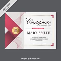 Abstract lines certificate Free Vector Certificate Layout, Certificate Background, Certificate Design Template, Brochure Design, Logo Design, Business Invitation, Invitations, Award Certificates, Album Design