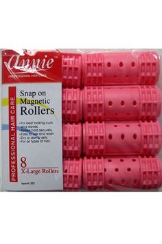 Aonebeauty Annie Snap On Magnetic Rollers X Large Pink