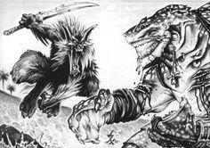 Rokea - White Wolf, World of Darkness, Ron Spencer.