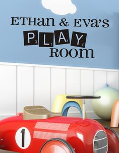 Playroom Childrens Decor Vinyl Wall Lettering by JustTheFrosting, $15.00