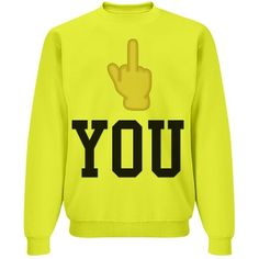 Fingers up | yellow fingers up sweatshirt