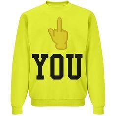 Fingers up | yellow fingers up sweatshirt