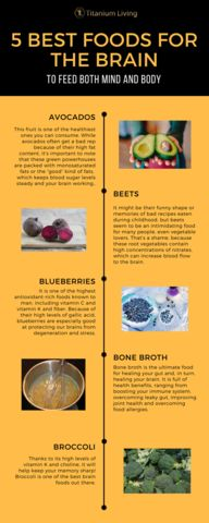 Which of these five snacks is your favorite for keeping your brain fit and healthy? Brain Fog, Smarty Pants, Bone Broth, Food To Make, Infographic, Foods, Make It Yourself, Bone Marrow Broth, Food Food