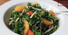 A simple and delicious raw kale salad recipe...