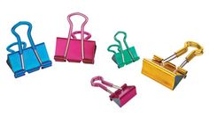 Keep all your assignments neat and organized with these colorful clips! OfficeMax Grip Binder Clips, $3.99-$6.99, officemax.com
