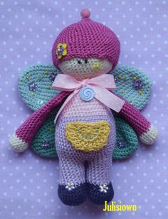 Butterfly crochet doll PDF pattern