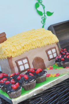 Jack and the Beanstalk cottage cake #cake