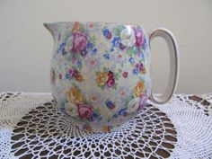 Chintz Rose Time Lord Nelson Ware 5 Inch Tall Pitcher
