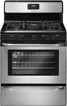 Frigidaire FFGF3049LS 30 Freestanding Gas Range - Stainless Steel *** Click image for more details.