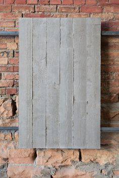 Handmade, one of a kind concrete and metal panels Concrete Wall Panels, Concrete Wall Texture, 3d Wall Panels, Concrete Tiles, Metal Panels, Basement Fireplace, Fireplace Wall, Concrete Interiors, Porous Materials