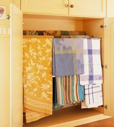 Cabinet fitted with dowels for linen storage <3 by lenore