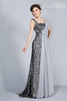 Elegant A-Line Floor-Length Straps Beading Evening Dress : Tidebuy.com