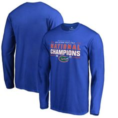 Florida Gators Fanatics Branded 2017 NCAA Men's Outdoor Track & Field National Champions Long Sleeve T-Shirt - Royal