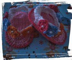 o meu cantinho 75: Sandálias em crochet para bebé