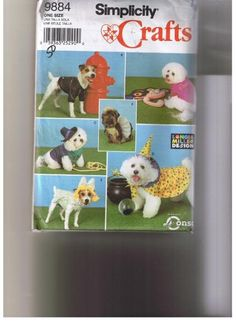 2001 Simplicity Costume Crafts Pattern Dog by TheIDconnection, $18.00