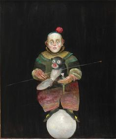 Dwarf with Monkey - Stefan Caltia - Magic Realism, 2005