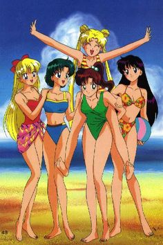 Sailor moon - I printed this picture out, along with 4 or 5 dozen others and taped them on my wall when I was 14