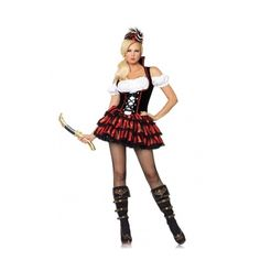 Pirate Wench Halloween Costume ❤ liked on Polyvore featuring costumes, costume, pirate wench costume, lady pirate costume, pirate vixen costume et pirate maiden costume