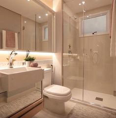 Most Popular Small Bathroom Remodel Ideas on a Budget in 2018 This beautiful look was created with cool colors, and a change of layout. Bathroom Layout, Modern Bathroom Design, Bathroom Interior Design, Small Bathroom, Neutral Bathroom, Toilet Design, Bathroom Inspiration, House Design, Home Decor