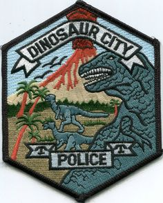 Dinosaur City Colorado Police Patch