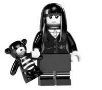 Lego 1 White Head For Female Minifigure Figure Spooky Girl Halloween Series 12
