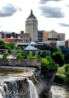 High Falls looking toward Kodak Headquarters, Rochester, NY.