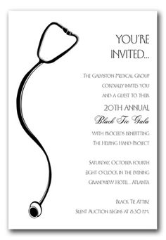 i love this as a med school grad invite- our wedding invites were right justified too.