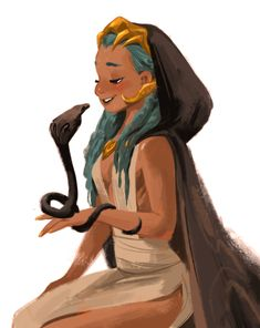 Maybe not Medusa, but one of her worshippers!? @Sketch_Dailies pic.twitter.com/6VHNJZTTy7