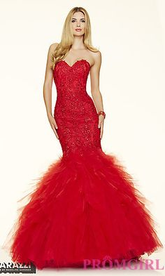 My Dream Prom Dress!!  Long Tulle Strapless Mermaid Style Prom Dress by Mori Lee at PromGirl.com