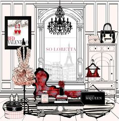 Find images and videos about luxury, fashion illustrations and megan hess on We Heart It - the app to get lost in what you love. Megan Hess Illustration, Fashion Illustration Sketches, Fashion Sketches, Illustration Art, Arte Fashion, Ideias Fashion, Chanel Art, Zeina, Beautiful Sketches