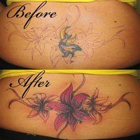 lower back tattoo cover ups before and after - Google Search