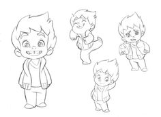 Little boy character sketches -Test for Mercury Filmworks by anderson mahanski
