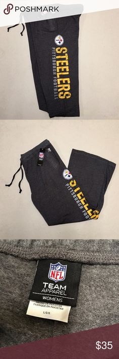 Pittsburg Steelers - NEW NFL Women's Lounge Pants Pittsburg Steelers 🏈 NFL Lounge Pants   Size Women's L  Draw String Front  Pockets  Super Comfy!!   New with tags!!    💛🖤💛🖤 NFL Pants Track Pants & Joggers