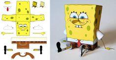 krust krab papercraft free | Papertoy de Bob l'éponge | Papertoys, Papercraft & Paper Arts