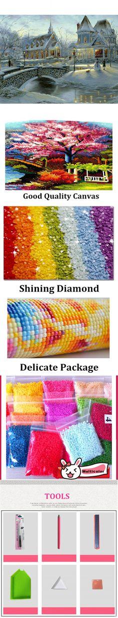Diy Diamond Painting home decor Full embroidery Winter Villa 3d diamonds wall picture wallpaper poster 30X40CM RZI-089 $29.74