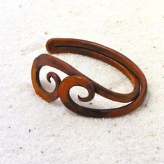 Seriously beautiful patina on this bracelet. Love it!   Copper Wave Half Cuff  Eco Friendly Handmade by TattooedTinker