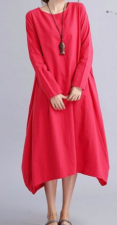 Women loose fit over plus size Bohemian dress long maxi pocket robe tunic chic #Unbranded #dress #Casual