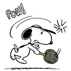 Snoopy - The World Famous Tennis Player #tennisinspiration #tennismotivation