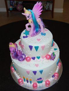 8 Lil Pony Themed Cakes Photo - My Little Pony Birthday Cake, My Little Pony Theme Cake and My Little Pony Cake My Little Pony Party, Bolo My Little Pony, Happy Birthday Cakes, Birthday Cake Girls, Birthday Parties, Birthday Ideas, 4th Birthday, Rosalie, Cupcake Cakes