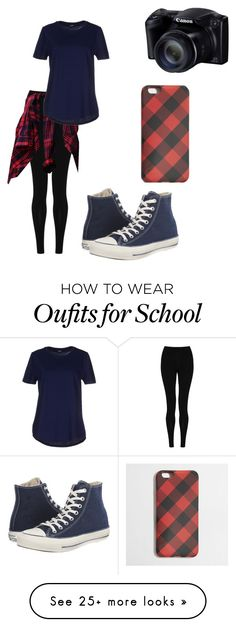 """first day of school fabulous"" by qveen4life on Polyvore featuring M&S Collection, Jil Sander Navy, Converse and J.Crew"
